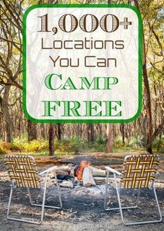 Places you can camp for free within the United States in a tent or an RV! Tons of great resources to save you money when you're camping.