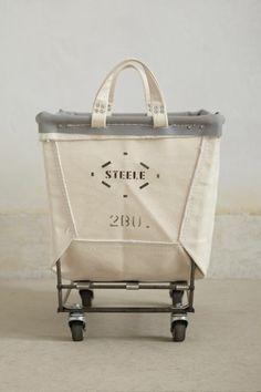 Steele Canvas Basket Co. mobile canvas bin. $138