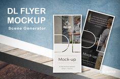 """Check out this @Behance project: """"DL Flyers Mockup Generator"""" https://www.behance.net/gallery/52041569/DL-Flyers-Mockup-Generator"""
