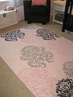I dislike pink, but I love damask-- I love this design!