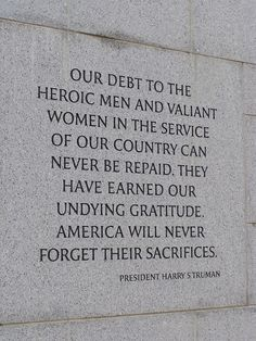 Happy Memorial Day ! #Quotation #Gratitude #Harry_Truman