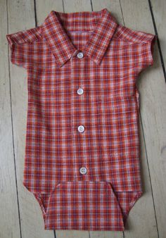 baby onsie from boy's shirt