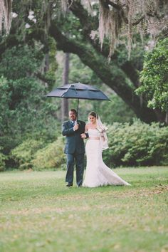 Radiantly Happy Rainy Day Wedding at The Ever Enchanting Eden Gardens State Park ...GOOD LUCK (THEY SAY) TO BE MARRIED OR BURIED IN THE RAIN.....ccp