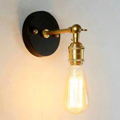 Encontrar Más Luces Colgantes Información acerca de E27 Retro lámpara chimenea de Latón Industrial Edison Lámpara Colgante de Luz de la Lámpara de Pared, alta calidad sostenedor de la lámpara e27, China e27 12 w Proveedores, barato e27 base de la lámpara de A+++ store en Aliexpress.com