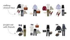 How to Pack 20 Outfits in One Carry-on - Stylebook: a closet and wardrobe fashion app for the iPhone. #Fashion #Travel #Packing