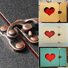 Vintage Hollowed Heart Love Shape Photo Image Album Scrapbook Gift Memory in Crafts | eBay