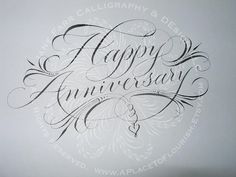Flourish for Anniversary by carmelscribe, via Flickr www.bakedoctor.com