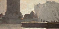 Roberts_Tom Roberts Trafalgar-Square Art-Gallery-of-South-Australia Australian Painting, Australian Artists, Canadian Artists, Impressionist Landscape, Landscape Paintings, Post Impressionism, Square Art, Trafalgar Square, Felder
