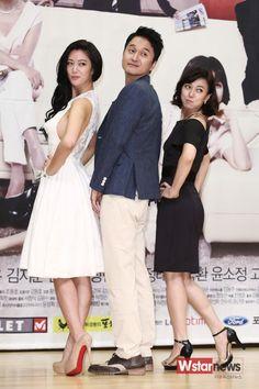 클라라 (Clara), 장현성(Jang Hyun-sung) and 장영남 (Jang Yeong-nam) at the 'Goddess of Marriage' press conference (2013)