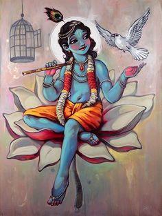 : Art of Krishna Lord Krishna Wallpapers, Radha Krishna Wallpaper, Lord Krishna Images, Radha Krishna Pictures, Hare Krishna, Krishna Radha, Krishna Drawing, Krishna Painting, Ganesha
