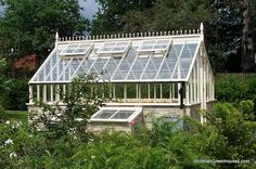 ~ lovely little greemhouse from  VictorianGreenhouses.com