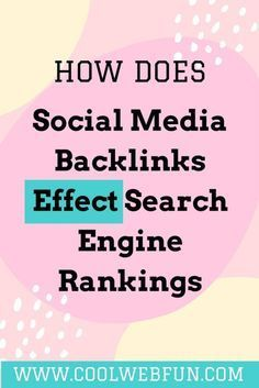 How does social media backlinks effects SEO? Create 16 social media backlinks right now for website traffic. Click on http://www.coolwebfun.com/social-media-backlinks-search-engine-rankings/