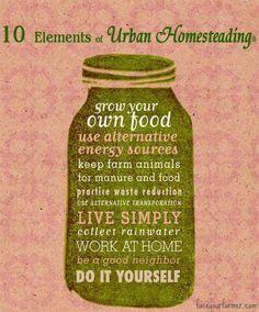 10 elements of urban homesteading.