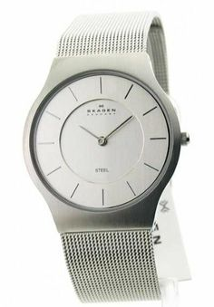 Mens Skagen Steel Ultra Slim Dress Watch 233LSS Skagen. $50.95. All Stainless Steel Case and Band. Analog with Silver Hands & Markers. Classic Round Silver Face. Ultra Slim Watch Case. Dressy Silver Mesh Stainless Steel Adjustable Band. Save 49%!