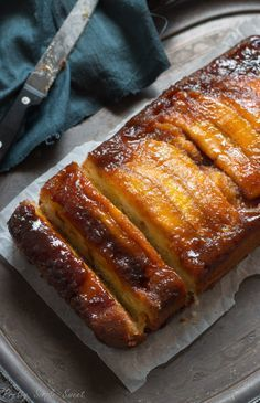 Caramel Banana Upside-Down Cake