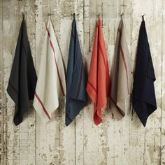 Striped French Linen Tea Towel from Merci in Paris Merci Shop Paris, Minimal Outfit, Textiles, French Decor, Kitchen Essentials, Wabi Sabi, Tea Towels, Hand Towels, At Least