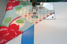 Handy tip to skip marking your sewing line on the diagonal of squares