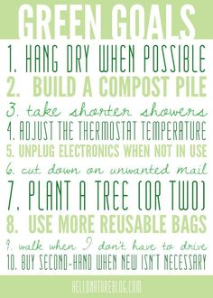 Happy Earth Day - here's my list of green goals to complete these year!Happy Earth Day - here's my list of green goals to complete these year!