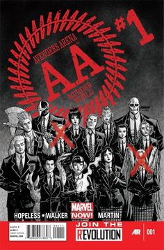 Avengers Arena #1    Marvel NOW! Trapped on an isolated island, 16 super human young adults (including cult faves like members of the Runaways, The Avengers Academy and Darkhawk) are given a chilling ultimatum by their demented captor: Fight or die--only one will walk out alive!