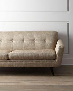 """Hilton"" Sofa by Massoud at Neiman Marcus."