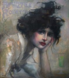 Sasha Kinens - Absynthe {French} I own this painting and six others of hers.  LOVE the work of my artist friend in NYC.