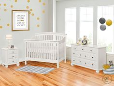 The Cossette Nursery Collection consists of classic baby furniture with a Contemporary twist. Designed to last for generations, this set is heirloom worthy.