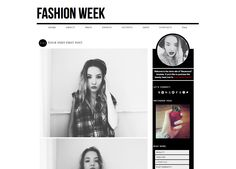 Blogger Template Premade Blog Design Fashion by KotrynaBassDesign, $25.00