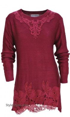 Arabelle Sweater Shirt Dress In Burgundy, Pretty Angel Lace Sweater, Sweater Shirt, Shirt Dress, Victorian Lace, Victorian Fashion, Vintage Dresses, Vintage Outfits, Vintage Lace, Pretty Angel Clothing