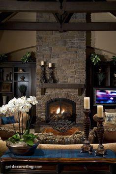 Fireplace living room idea