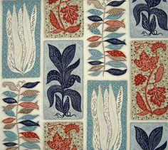 Meggy Magpie — 1950s Ashley Havinden Seaweed Fabric