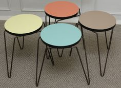 Florence Knoll Hairpin Stacking Stools