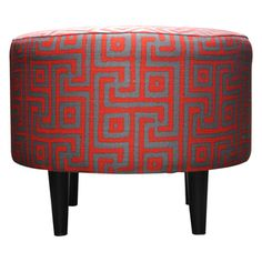 @Overstock - Give your home a new look with this fashionable Button tufted ottoman. This beautiful ottoman features fabric upholstery and an attractive finish.http://www.overstock.com/Home-Garden/Round-Sophia-Atomic-Red-Ottoman/7866231/product.html?CID=214117 $99.99