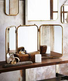 Triple Panel Florin Mirror