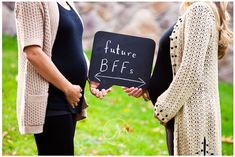 if you're ever pregnant at the same time as your best friend. such a cute idea!
