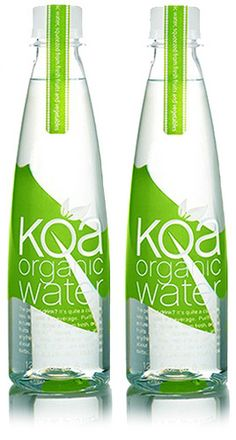 Koa Organic Water | This water retains the nutrients of produce, without the sugar or calories!