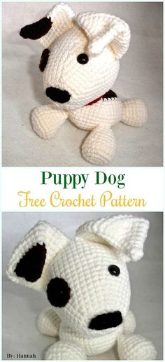Crochet Puppy Dog Amigurumi Free Pattern - #Amigurumi Puppy #Dog Stuffed Toy Crochet Patterns