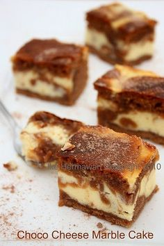 PAWONIKE - this is my kitchen rules...: Choco Cheese Marble Cake Ala Agnes Chang