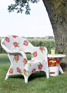 Do You Have A Few Pieces Of Tired Old Wicker Furniture Hanging Around?  Elbow Grease, Creativity, And Paint Will Transform It! Wicker Gone Wild: 10  Easy Ways ...