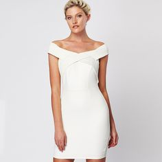 6dd1486486008 Zibi London off-the-shoulder white perfect for Black Tie and  summerparties