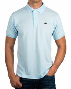 New Lacoste Sky Blue Men's Pima Cotton Sport Athletic Jersey Shirt Small Polos Lacoste, Jersey Shirt, Dress Up, Shirts, Athletic, My Style, Mens Tops, Cotton, Outfits