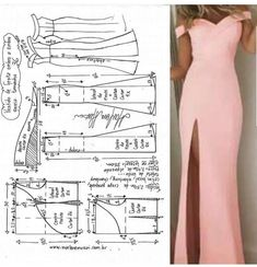 Te explicamos como hacer este vestido, paso a paso con moldes y patrones! #patrones #moldes #costura #corte #confeccion #patterns Sewing Dress, Dress Sewing Patterns, Diy Dress, Sewing Clothes, Clothing Patterns, Party Dress, Sewing Pants, Dress Ideas, Fashion Sewing