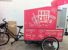 Equal Exchange Cafe - pedal powered! Love this!