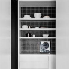 What's better than one kitchen? Two! Here's the Scullery at the Bendigo Residence... White American Oak and black Japanese tiles  #BendigoResidencebyFlackStudio #flackstudio #ultimatechef #flackfactor @brookeholm Art Direction: @marshagolemac by flackstudio
