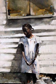 "Stephen Scott Young Jasmine, 1989 Drybrush Watercolor on Paper 22 x 28"""