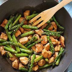 recetas saludables con pollo y esparragos