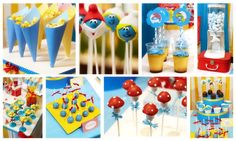Smurfs Table Party Ideas cakepins.com
