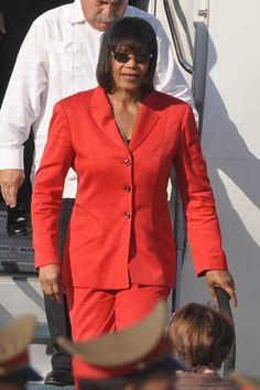 Portia Simpson-Miller, Primera Ministra de Jamaica, a su llegada al Aeropuerto Internacional José Martí, en La Habana, Cuba, el 26 de enero de 2014, para participar en la II Cumbre de la Comunidad de Estados Latinoamericanos y Caribeños (CELAC). AIN FOTO/Marcelino VÁZQUEZ HERNÁNDEZ