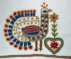 Páva himzes. (Nepi Iparmuveszeti Gyujtemeny, Kecskemet, Hungary) - searchable database of folk art and craft. In Hungarian.