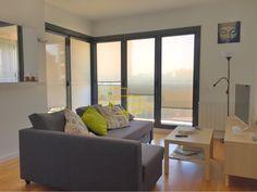 Cortinas Minifast en salón. Podrás abrir las ventanas sin necesidad de subir las cortinas. #solart #minifast