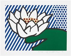 Water Lily by Roy Lichtenstein, 1992, made of Screenprint in colours, on Lana Royal paper, 41/130